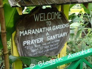 The prayer garden in St. Lucia